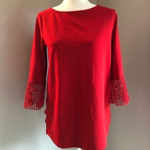 Ann Taylor Top Vibrant Orange/red
